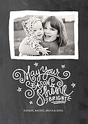 Shine Bright Black Holiday Magnets - Front