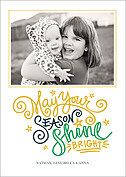 Shine Bright White Holiday Magnets - Front