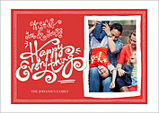 Warmest Wishes Red Holiday Magnets - Front