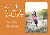Class of Orange Graduation Magnets - Front