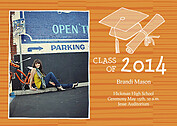 Stately Stripes Orange Graduation Magnets - Front