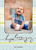 Hope Love Joy Blue - Front