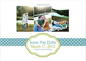 Classic Save Date Wedding Magnets - Front