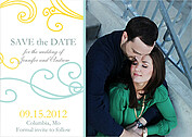 Fanciful Mod Date 2 Wedding Magnets - Front