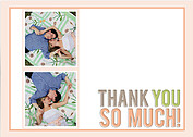 Peachy Keen Thanks Wedding Magnets - Front