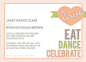 Peachy Keen Invitation Wedding Magnets - Front