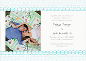 Bubbles Invitation Aqua Wedding Magnets - Front