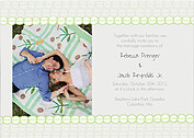 Bubbles Invitation Green Wedding Magnets - Front