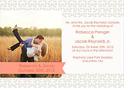 Floral Invitation Melon Wedding Magnets - Front