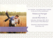 Floral Invitation Purple Wedding Magnets - Front
