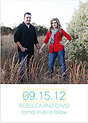 Color Pop Date  Wedding Magnets - Front