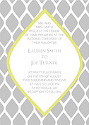 Pretty Print Invitation Wedding Magnets - Front