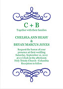 Violet Flourish Invitation Wedding Magnets - Front