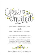 Spring Blooms Invitation Wedding Magnets - Front