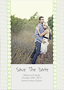 Bubbles Date Green Wedding Magnets - Front