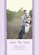 Bubbles Date Purple Wedding Magnets - Front
