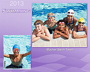 Swimming Purple - Front