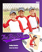 Baseball Purple - Front