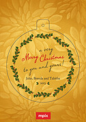 Goldenrod Christmas Pop Circle - Front