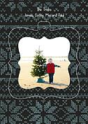 Holiday Sweater Navy Pop Ornate - Back