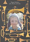 Joyous Horns Gray Pop Ornate - Back