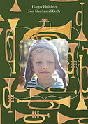 Joyous Horns Green Pop Ornate - Back