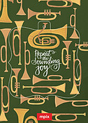 Joyous Horns Green Pop Ornate - Front
