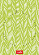 Lime Herringbone Pop Circle - Back