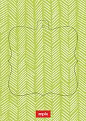Lime Herringbone Pop Ornate - Back