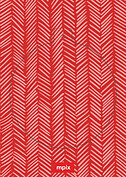 Red Herringbone Pop Circle - Back