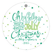 Oh By Golly Green Christmas Holiday Ornaments - Front