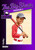 Baseball Purple Trader Cards - Front