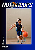 Basketball Blue Trader Cards - Front