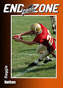 Football Orange Trader Cards - Front