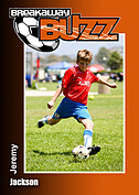 Soccer Orange Trader Cards - Front