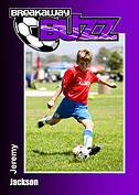 Soccer Purple Trader Cards - Front