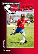 Soccer Red Trader Cards - Front