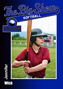 Softball Blue Trader Cards - Front