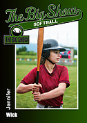 Softball Green Trader Cards - Front