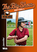 Softball Orange Trader Cards - Front