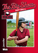 Softball Red Trader Cards - Front