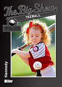 Teeball Black Trader Cards - Front
