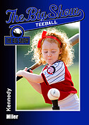 Teeball Blue Trader Cards - Front