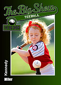 Teeball Green Trader Cards - Front