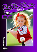 Teeball Purple Trader Cards - Front