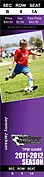 Soccer Purple Tickets - Front