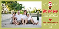 Santa Shuffle Green Photo Card