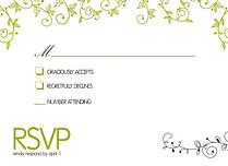 Sweet Surrender RSVP Flat Cards - Front