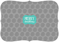 Adorned Christmas Aqua Ornate Christmas Flat Cards - Back