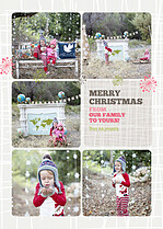 Bold Bursts Christmas Flat Cards - Front